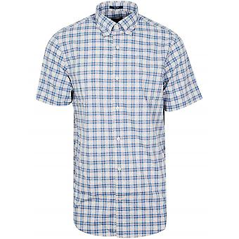 Gant GANT Cornet Blue Check Short-Sleeve Shirt