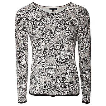 Leo Guy Leopard Print Fine Knit Jumper