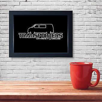 Transporters Framed Print - Home Decor Kitchen Bathroom Man Cave Wall Art