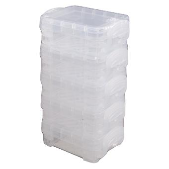 Storage Studios Super Stacker Bitty Boxes 5/Pkg-Stacked, Clear  40315