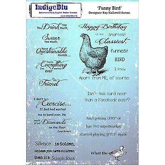 IndigoBlu Cling Mounted Stamp-Funny Bird IND0156P