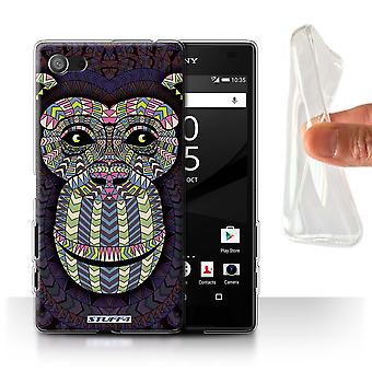 STUFF4 Gel/TPU sak/Cover for Sony Xperia Z5 Compact/4.6/Monkey-Colour/Aztec dyr