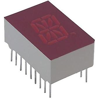 Alphanumeric segment display Red 12.7 mm 2 V No. of digits: 1 Lite-On