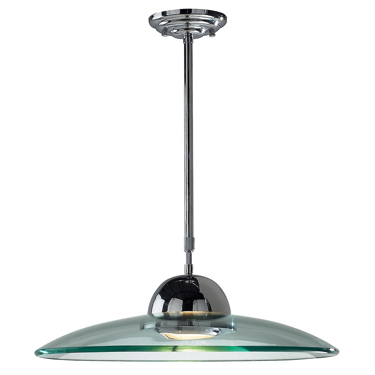 Dar HEM8650 Hemisphere Halogen Pendant With Curved And Frosted Glass