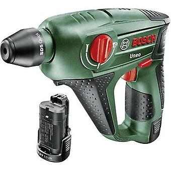 Bosch Uneo SDS-Quick-Cordless hammer drill 10.8 V 2 Ah Li-ion incl. spare battery, incl. case
