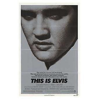 Tämä on Elvis elokuvajuliste (11 x 17)