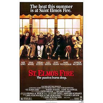 St Elmos Fire Movie Poster (11 x 17)