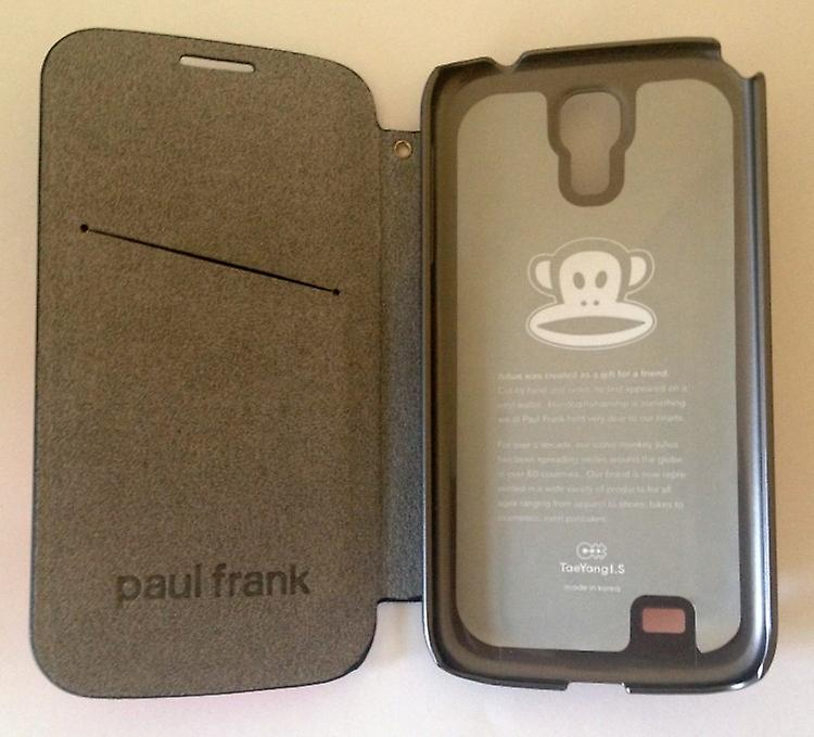 Original Paul Frank ® Flip case cover leatherette for Samsung Galaxy S4 / LTE with design helmet blue