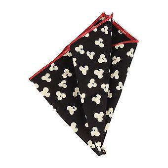 Snobbop handkerchief black red floral handkerchief Cavalier cloth