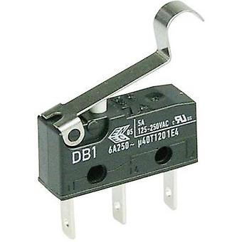 Microswitch 250 Vac 6 A 1 x On/(On) Cherry Switches DB1C-B1SC momentary 1 pc(s)