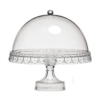 Clear Cake Stand with Dome Lid