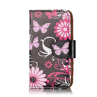 Design Book Wallet PU Leather Case for LG G3S (G3 Mini / D722) - Gerbera