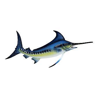 Sport Fishing Big Catch Blue Marlin 18 Inch Resin Wall Decor Plaque