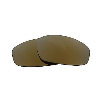 New SEEK Polarized Replacement Lenses for Oakley WIND JACKET Grey Gold Mirror