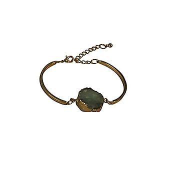 Minimalistische schicke natürlichen Stein Anweisung Armband grün