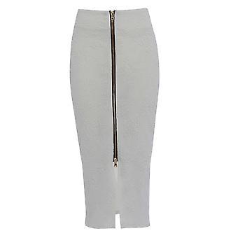 Consigue el look de falda realzado frente Zip