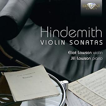 P. Hindemith - Hindemith: Importazione Sonate per violino [CD] Stati Uniti d'America