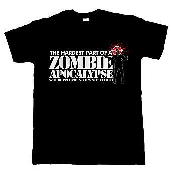 Der schwierigste Teil einer Zombie-Apokalypse, Mens lustige T Shirt