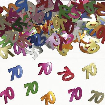 Table confetti number 70 decoration confetti birthday party