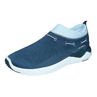 Merrell 1SIX 8 Moc Womens Slip On Running Trainers / Shoes - Dark Grey