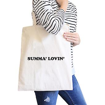Summa' Lovin' Natural Summer Vibes Canvas Bag Eco Friendly Tote Bag