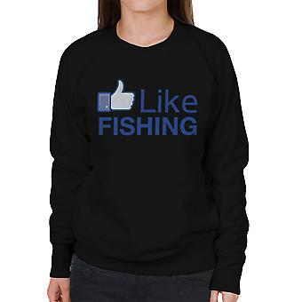 Wie Angeln Facebook Damen Sweatshirt