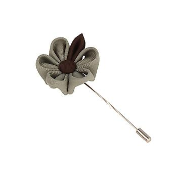 Snobbop revers-corsage flower pin brooch pin big gray-Brown flower