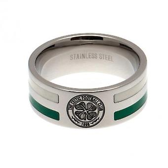 Celtic Colour Stripe Ring Medium
