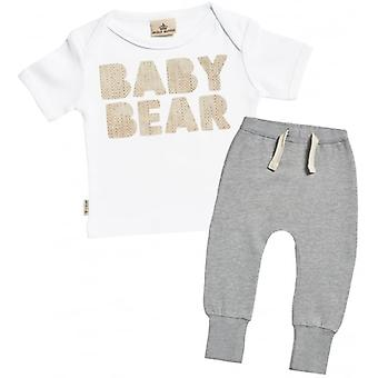 Spoilt Rotten Baby Bear Baby T-Shirt & Joggers Outfit Set