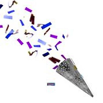 Partyshooter confetti shooter party crackers silver