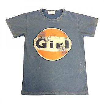 Same Same Worn Look Girl T-shirt  Blue
