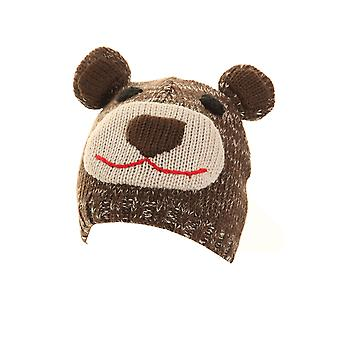 Childrens Owl And Bear Ski Hat With Ears