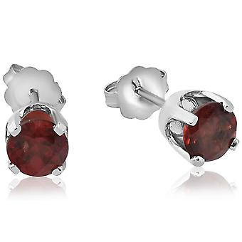 2ct Ruby Studs 10K White Gold