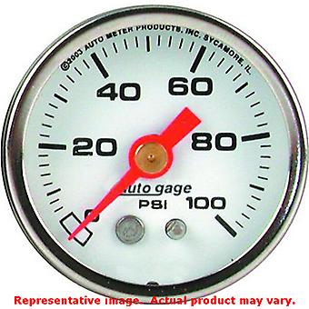 Auto Meter manometer Direct Mount 2177 White Dial / Chrome Case 1-1/2 in Ra