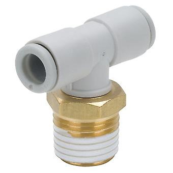SMC Pneumatic Tee Threaded-To-Tube Adapter, 1/2 X 10Mm X 10Mm, 1 Mpa, 3 Mpa