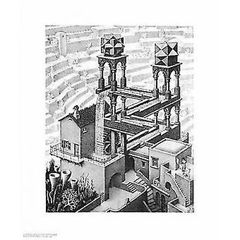 Vattenfall affisch affisch Skriv av MC Escher