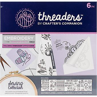 Crafter's Companion Threaders Embroidery Transfer Sheets-Sewing 6/Pkg TH1147