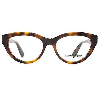 Alexander McQueen Edge AM0045 Glasses In Havana