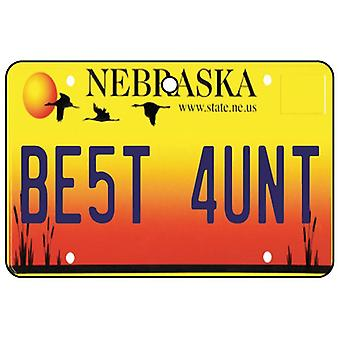 Nebraska - Best Aunt License Plate Car Air Freshener