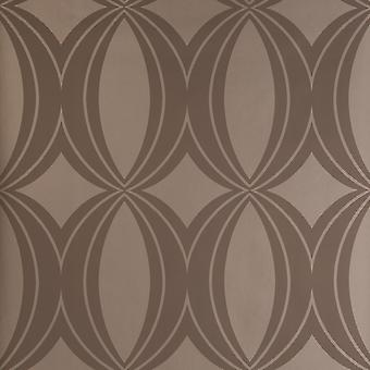 Harlequin Brown & Gold Wallpaper Roll - Flat Patterned Design - Colour: 15785