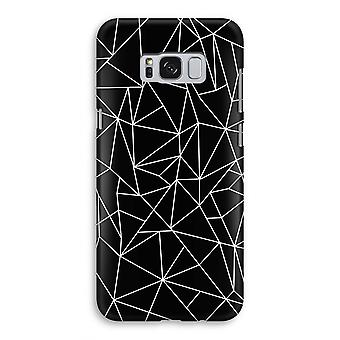 Samsung Galaxy S8 Full Print Case - Geometric lines white