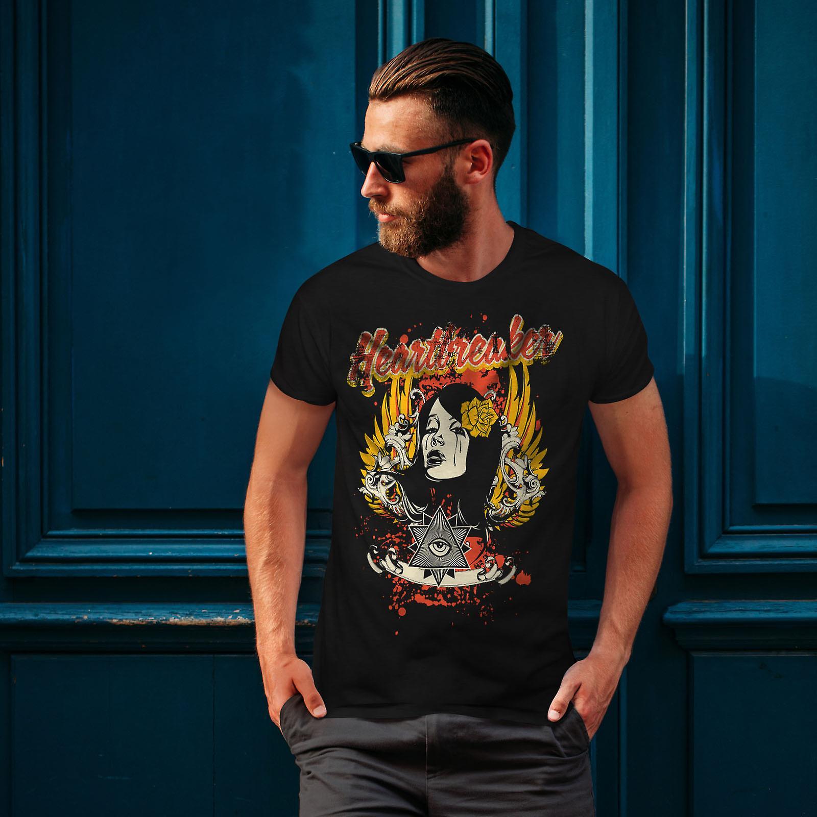 Heartbreaker Rose BlackT-chemise homme | Wellcoda