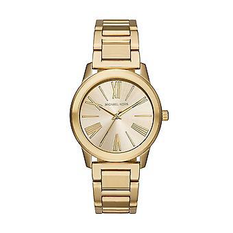 Michael dameshorloge Kors Hartman Womens gouden RVS armband goud Dial MK3490