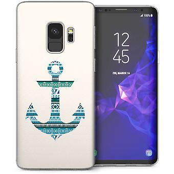 Samsung Galaxy S9 Aztec anker TPU Gel sag-blå