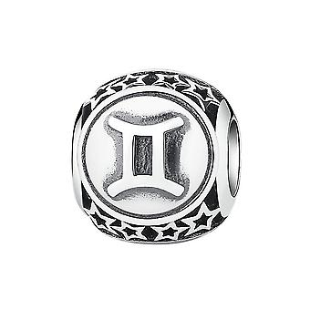 Sterling silver charm Zodiac sign Gemini PSC048-GE