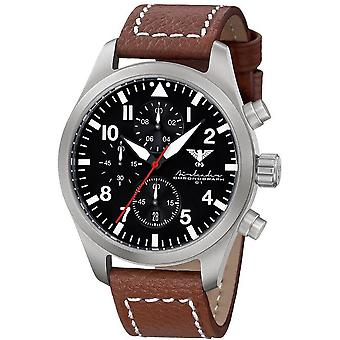 KHS mens watch Airleader Steel Chronograph KHS. AIRSC. LB5