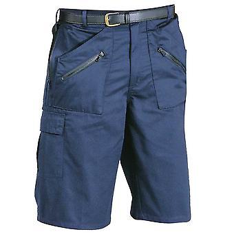 Portwest Mens Action Multipocket Workwear Shorts Navy Black