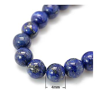 Strand 40+ Blue Lapis Lazuli 4mm Dyed Plain Round Beads HA02330
