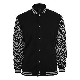 Urban Classics 2-Tone College Jacket Zebra
