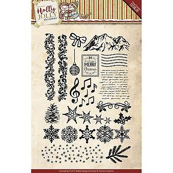 Find It Trading Yvonne Creations Clear Stamp-Holly Jolly
